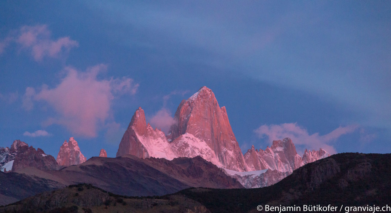 Mt. Fitz Roy at sunrise.